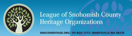 League of Snohomish County Heritage Organizations banner and logo
