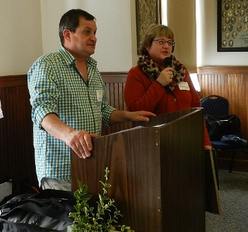 Kevin Stadler and Cherie Ryan accepted the award for the Alderwood Manor Heritage Assn for their newly designed website.